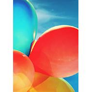 Verjaardagskaartje Ballonnen