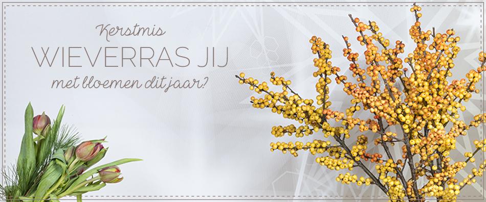 Banner Kerst bloemen