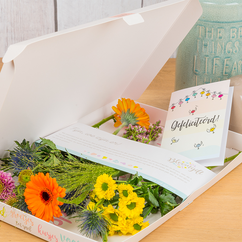 Party Mix brievenbusbloemen