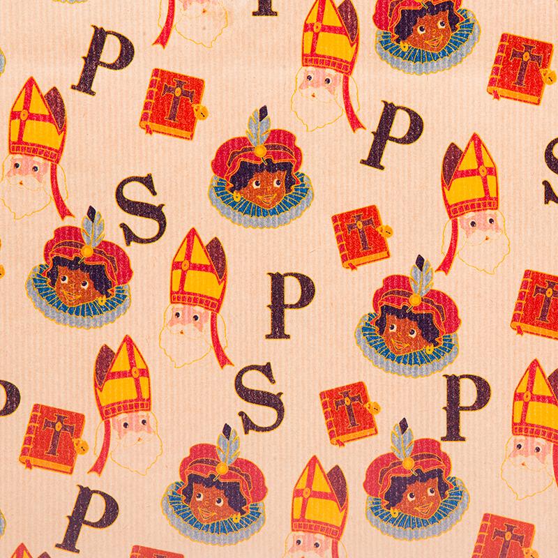 Inpakpapier Sinterklaas Sint & Piet