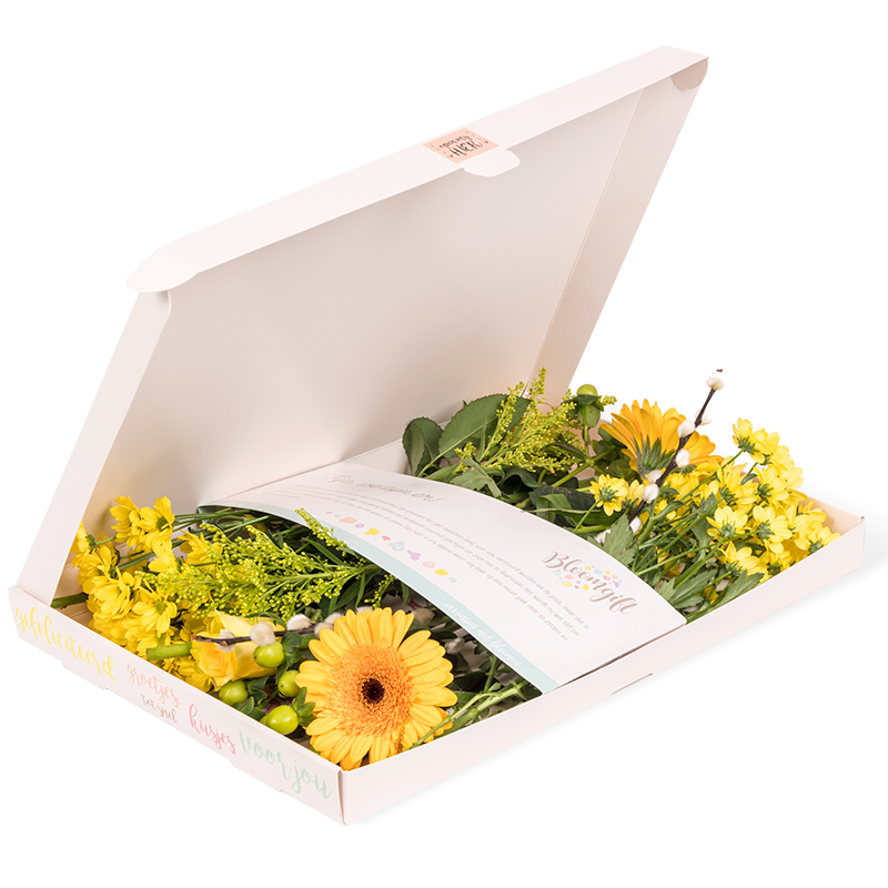 Gele brievenbusbloemen